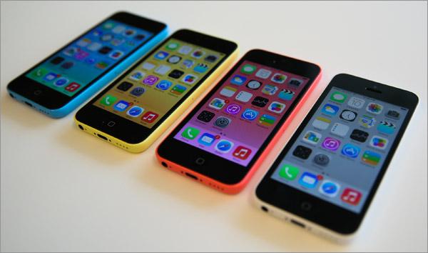 iPhone 5C de face