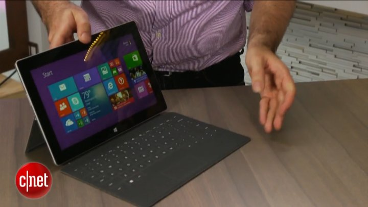 Microsoft Surface 2, premier contact