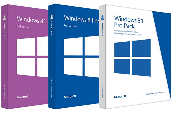 Version boite windows 8.1