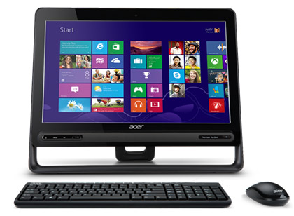 Acer ZC-605 équipé d'un clavier et d'une souris