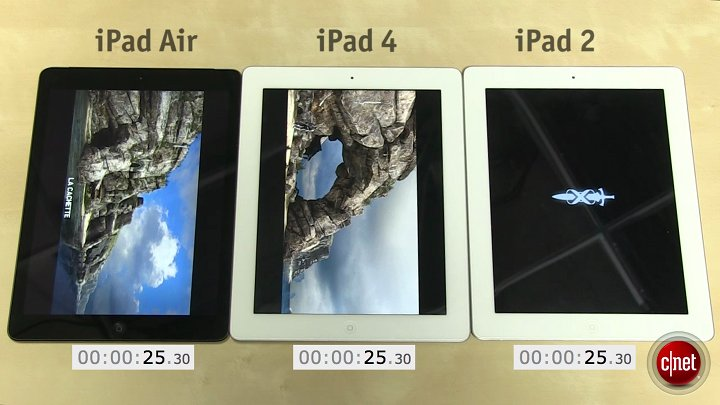 Test iPad Air vs iPad 4 vs iPad 2}