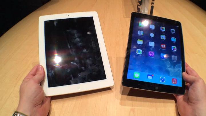 iPad Air: prise en main vs iPad 4}