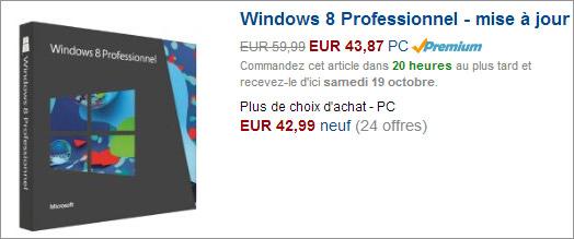 Windows 8 chez amazon