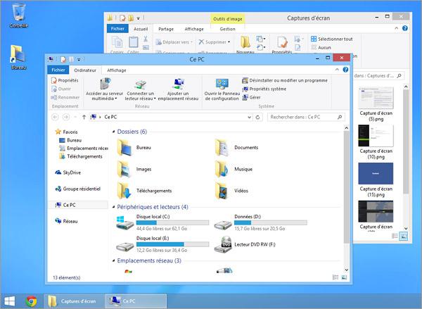 Le bureau sous Windows 8.1