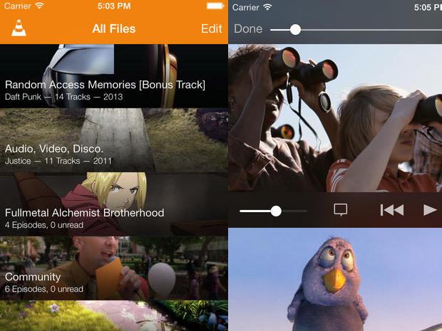 Nouvelle application iOS VLC 2.2.0 : un design pour iOS 7 et des nouveautés