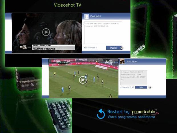 Numéricable : démarrage décalé des émissions et partage d'extraits sur Facebook