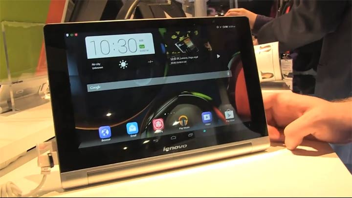 MWC 2014 - Lenovo Yoga Tablet 10 HD, 3 positions