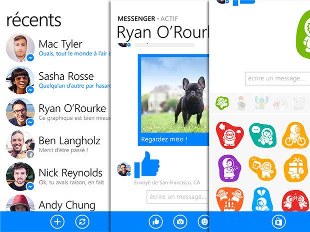 Facebook Messenger quitte les PC et arrive sur les Windows Phone