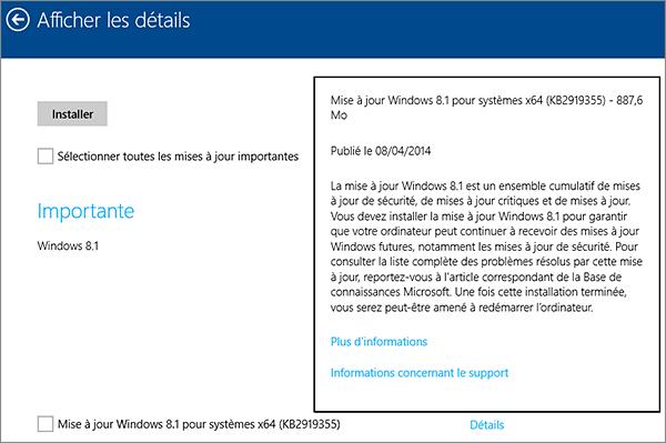 Installer update 1