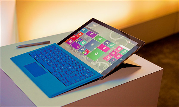 Surface Pro 3 dépliée