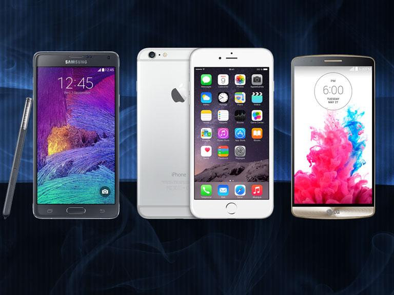iPhone 6 Plus vs Galaxy Note 4 vs LG G3 : la bataille des chiffres