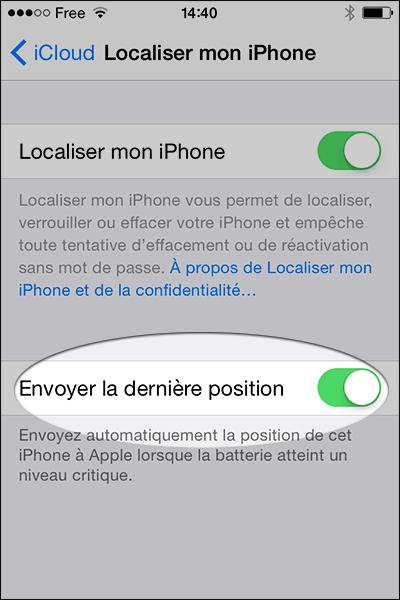 Localiser iPhone