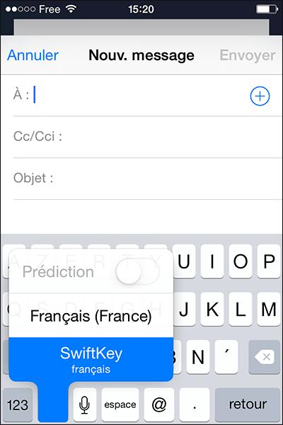 Claviers alternatifs iOS