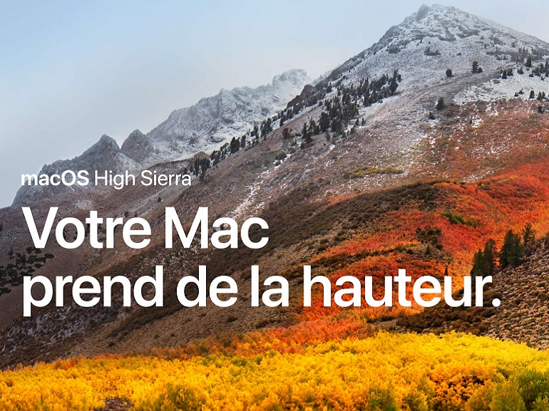 macOS High Sierra sera disponible le 25 septembre