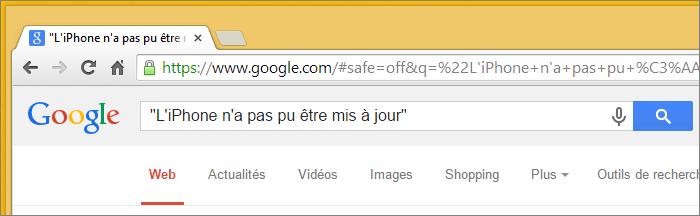 Guillemets Google
