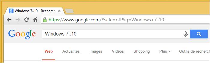 Un nombre variable dans la recherche