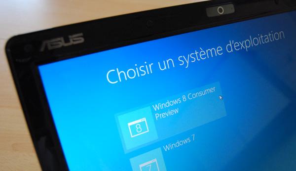 Choix du système sur PC
