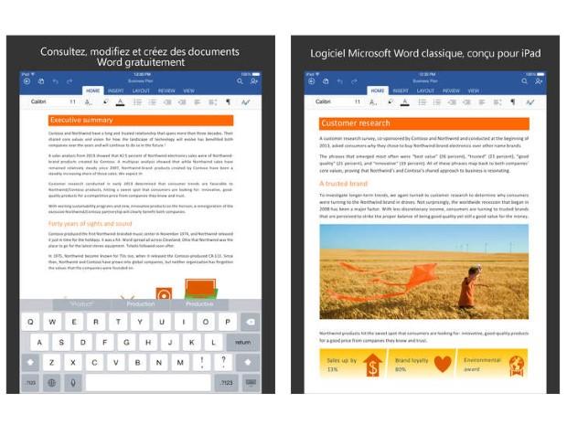 Office pour iOS devient gratuit, une preview pour Android