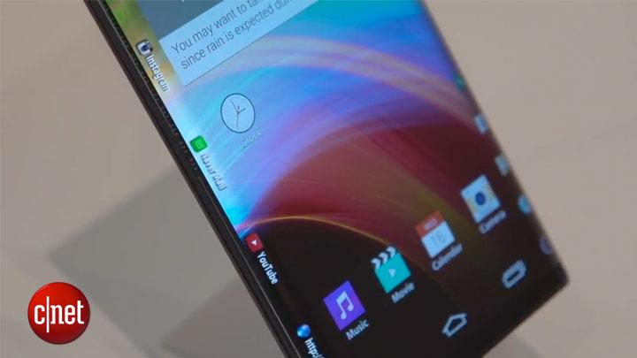 CES 2015 : un smartpohne à écran courbé des deux côtés chez LG}