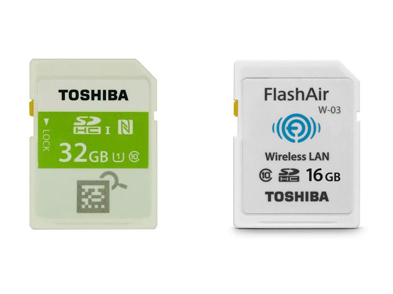 CES 2015 : Toshiba présente des cartes mémoires SD dotées de NFC (une première) et de Wi-Fi