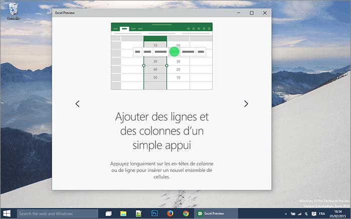 Ajout de lignes Excel