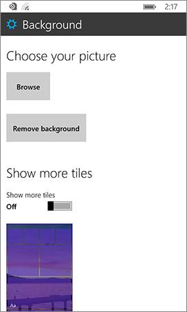 configuration de l'écran d'accueil