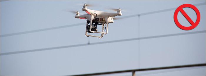 Drone cable electrique