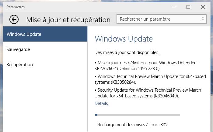 Les patch dans Windows Update
