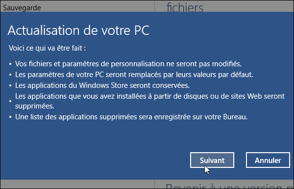 Actualisation de Windows 10