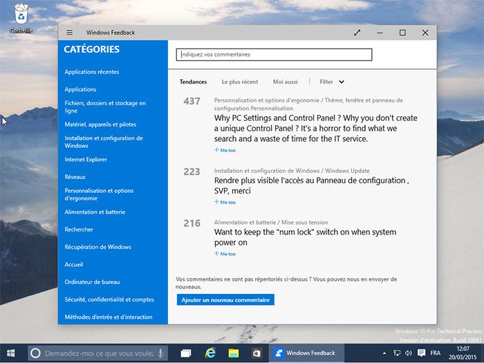 Retours d'expérience pour Microsoft