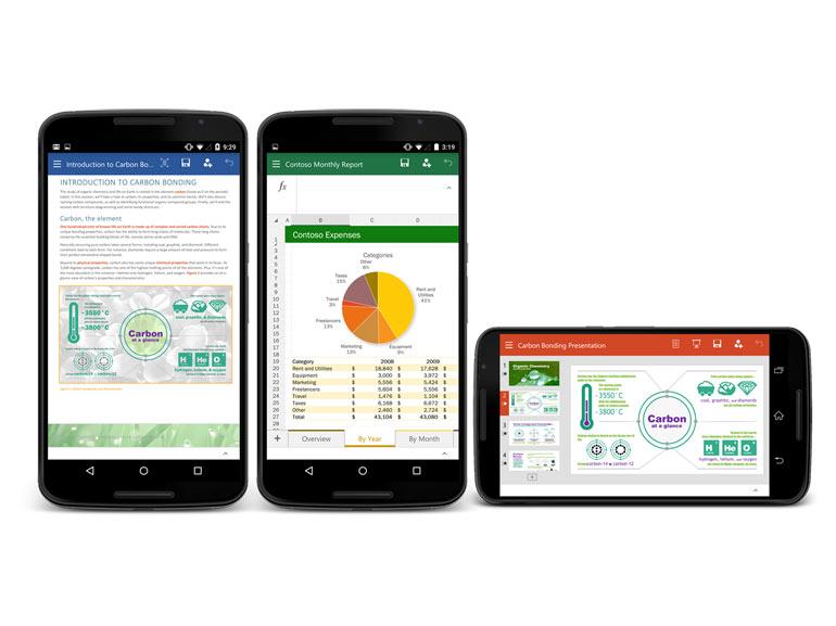 Office Android : Word, Excel et Powerpoint passent le cap des 500 millions d'installation