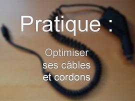 Pratique: comment torsader un câble en spirale / accordéon ?
