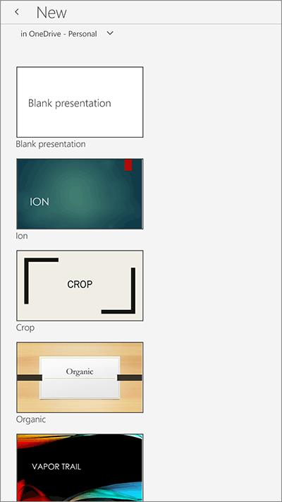Interface Powerpoint