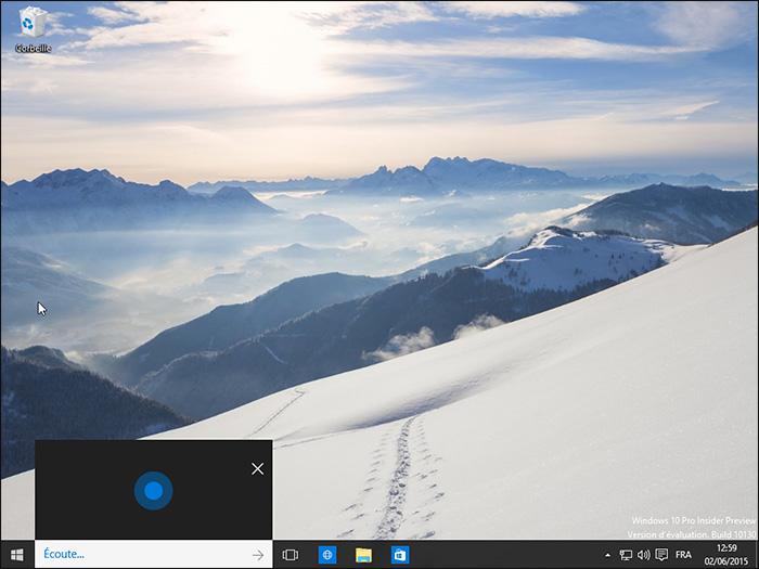 Cortana à l'écoute