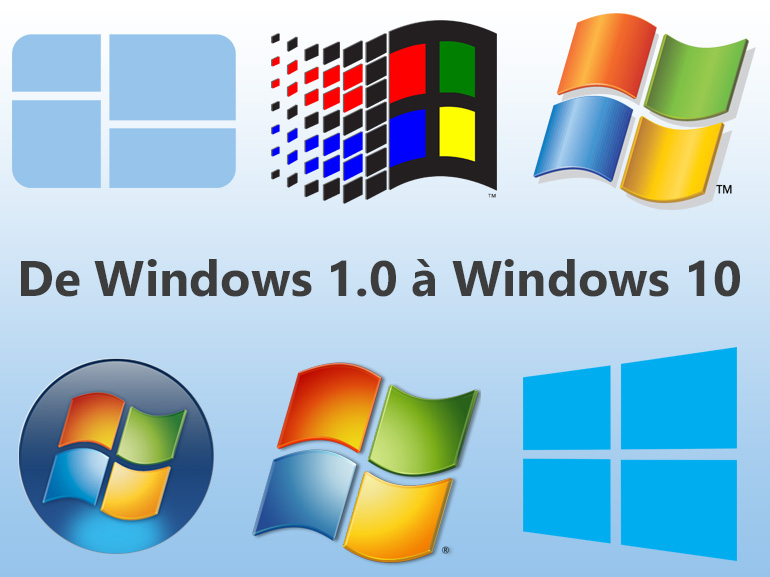 De Windows 1.0 à Windows 10 April 2018 Update : évolution en images
