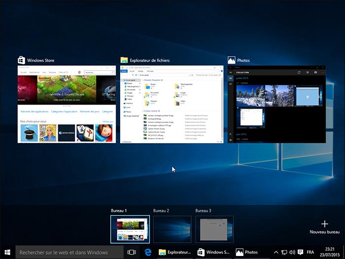 Les bureaux virtuels de Windows 10