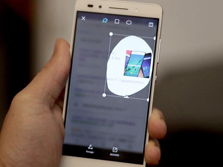 Comment effectuer et partager une capture d'écran avec le Honor 7