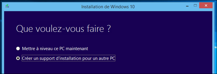 Télécharger le CD de Windows 10