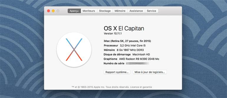 apple imac 27 pouces retina 5k 2015