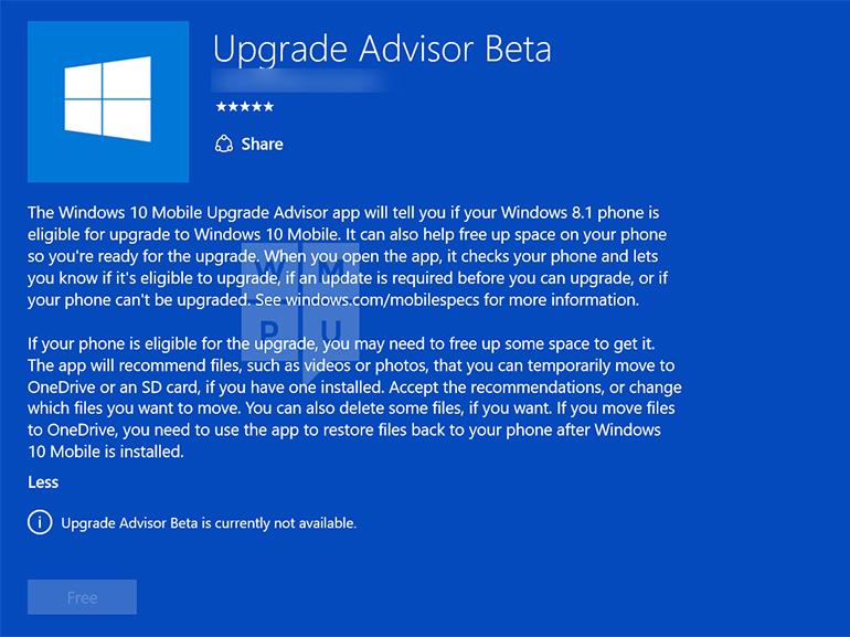 Windows 10 mobile : une appli d'aide à la mise à jour en préparation