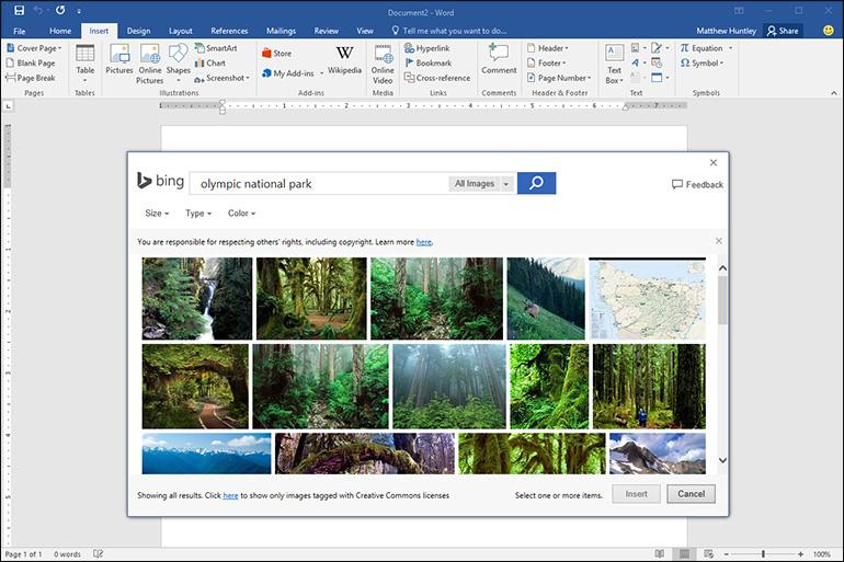 Bing dans Office