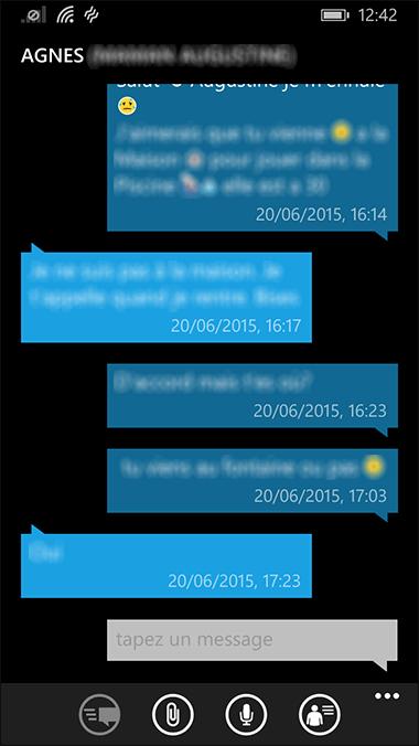 Conversation SMS
