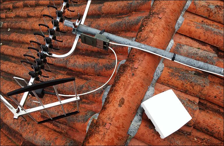 Antennes côte à côte