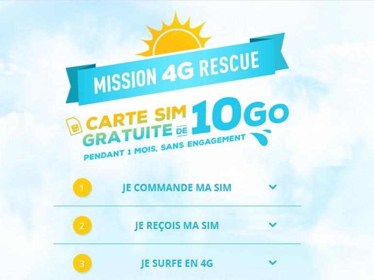 Bouygues Telecom offre une carte SIM et 10 Go pour tester sa 4G pendant les vacances