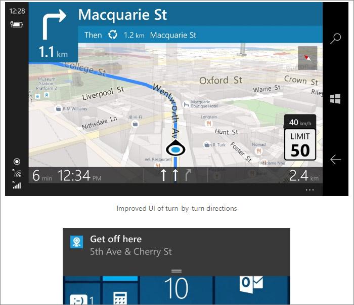 Vue paysage et notification bus