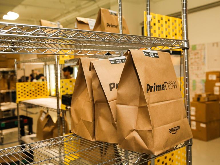 Amazon : les livraisons de repas en 1h arrivent en Europe