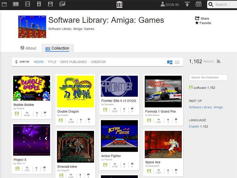 The Internet Archive ajoute 10 000 jeux Amiga à sa bibliothèque de logiciels
