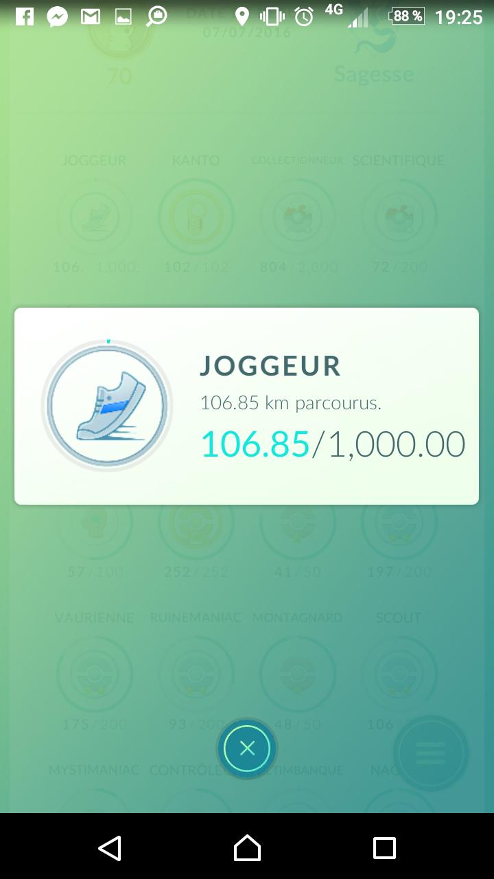 joggeur PokémonGo