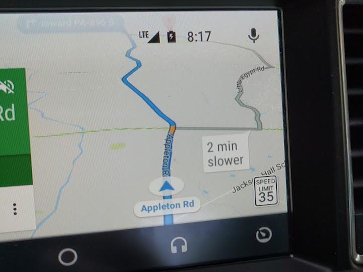 limite de vitesse Maps sur Android Auto