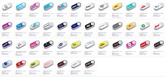 Collections de boutons Dash